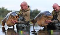 Người đàn ông bắt được con cá chép quá khổ kỷ lục 68 kg
