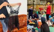 Tranh cãi chuyện ủng hộ váy mỏng tang, quần ngắn cũn cho người dân miền Trung