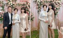 Dự đám hỏi em gái, vợ Đăng Khôi xinh đẹp nhưng không lấn át cô dâu