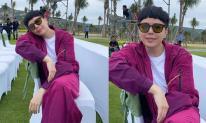 Trịnh Thăng Bình diện cả 'cây' tím lịm, để mái ngố nhưng khiến fan băn khoăn về chiếc mũi kỳ dị