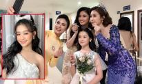 'Tiểu hoa khôi Tây Đô' Bảo Ngọc gây sốt với khoảnh khắc chụp cùng loạt Hoa hậu