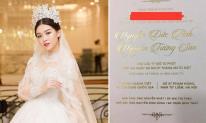 Hé lộ thiệp cưới của Á hậu Tường San