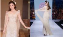 Á hậu Huyền My mặc váy xuyên thấu gợi cảm, tái xuất sàn catwalk