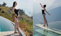 Hoa hậu Giáng My gây sốt khi diện bikini khoe thân hình nóng bỏng giữa tiết trời 10 độ C