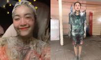 Bị dính bột bết vào tóc sau khi quay hình, Lan Ngọc khóc than dùng nước rửa chén để rửa khiến cư dân mạng phải 'choáng'