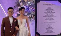Đám cưới Á hậu Thúy An: Không gian tiệc cưới xa hoa lộng lẫy, menu siêu sang chảnh