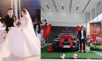 Cầu thủ Xuân Mạnh tậu xế hộp mới sau khi cưới vợ