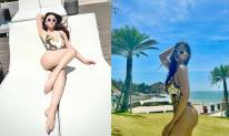 'Gái hai con' Thu Thủy diện bikini bốc lửa sau sinh, fans tưởng là siêu mẫu