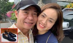 NSND Công Lý được bạn gái kém tuổi tặng giày hiệu 20 triệu mừng sinh nhật tuổi 46