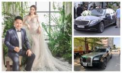 Đám cưới cực kín đáo nhưng nhìn dàn siêu xe bạc tỉ đón dâu của Bảo Thy cũng hiểu hôn lễ xa xỉ cỡ nào