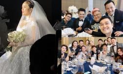 Đám cưới Bảo Thy: Cô dâu diện váy trắng tiến vào lễ đường, chúc rượu khách mời