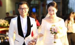 Đám cưới BTV Thu Hà: Cô dâu diện váy cưới nền nã sánh bước bên chú rể điển trai