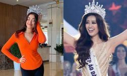Mượn vương miện của tân Hoa hậu để đội, Á hậu Lệ Hằng bị dân mạng nhắc nhở