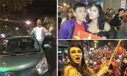Sao Việt vỡ oà hạnh phúc, vui vẻ đi bão khi đội tuyển U22 Việt Nam lần đầu giành vô địch SEA Games 2019