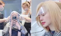 Thiều Bảo Trang hứa U22 Việt Nam vô địch SEA Games sẽ nhuộm tóc trắng như bà ngoại và đây là kết quả