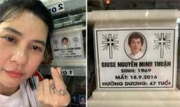 Đến thăm nơi an nghỉ của Minh Thuận vào cuối năm, Cát Phượng chia sẻ: 'Sẽ đến lượt em...  làm kiếp người chán lắm'