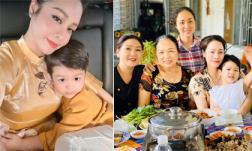 Sau 3 ngày đón Tết sớm ở bên ngoại, Nhật Kim Anh đưa con về Nội: 'Em khóc ôm cứng cổ mẹ không rời mà thương quá'
