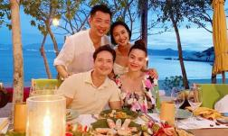 Hội ngộ Hà Hồ trong kì nghỉ sang chảnh, Ốc Thanh Vân gửi lời chúc đến mẹ bầu và Kim Lý