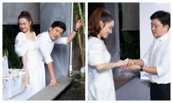 Hết ôm rồi lại lau tay cho ông xã tại sự kiện, Nhã Phương đúng chuẩn cô vợ chiều chồng 'nhất quả đất'