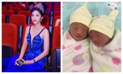 Hoa hậu Đại dương Đặng Thu Thảo đã hạ sinh hai quý tử đầu lòng, tiết lộ luôn diện mạo bé cực dễ thương
