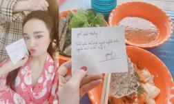 Chiều mưa, Nhã Phương nhận được món ăn từ Trường Giang cùng lời nhắn cực ngọt