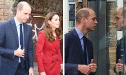 Hoàng tử William bị chộp khoảnh khắc đang đi với Công nương Kate nhưng lại dán mắt vào thứ gây nghiện này
