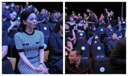 Lệ Quyên và chồng cùng dự show Đỗ Mạnh Cường nhưng không chụp ảnh cùng, ngồi cách xa nhau