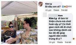 Kim Lý bị mắng không đi từ thiện, chỉ lo đi chơi, Hà Hồ làm thơ đáp trả