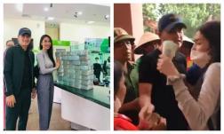 Thủy Tiên tuyên bố sẽ dừng phát tiền cứu trợ nếu người dân chen lấn, dẫn đến thiếu an toàn