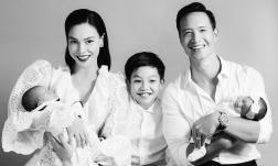 Hà Hồ khoe ảnh gia đình 5 người hạnh phúc trong ngày sinh nhật, diện mạo con gái Lisa chính thức được hé lộ