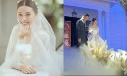 Hé lộ không gian tiệc cưới lung linh của Á hậu Tường San và chồng doanh nhân hơn 9 tuổi