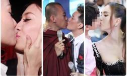 Đỏ mặt với những màn 'khóa môi' phản cảm gây tranh cãi của sao Việt