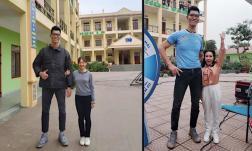 Việt Hương, Lan Phương bỗng hoá 'công chúa tí hon' khi đứng cạnh cùng một chàng trai