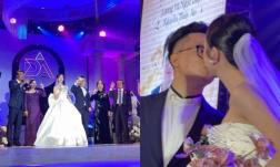Cập nhật đám cưới Á hậu Thúy An tại TP. HCM: Cô dâu - chú rể hạnh phúc hôn nhau say đắm trước nhiều quan khách