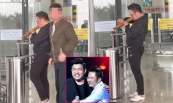 Ca sĩ Quang Lê quay lén cảnh Bằng Kiều hút thuốc lào ở sân bay
