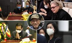 Lễ viếng NSND Trần Hạnh: Dàn nghệ sĩ xúc động nhìn linh cữu lần cuối, không kìm được nước mắt bên bàn ghi sổ tang