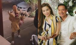 Kim Lý tặng Hà Hồ bó hoa siêu khổng lồ, netizen 'chết cười' với đoạn chúc tiếng Việt bập bẹ của 'ông bố lực điền'