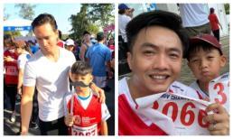 Cùng đưa Subeo đi chạy marathon gây quỹ từ thiện, Kim Lý và Cường Đô La 'đụng độ'