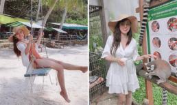 'Gái hai con' Mai Thỏ diện bikini gợi cảm khi đi du lịch Phú Quốc