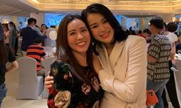 Hoa hậu Thu Hoài cùng bạn trai dự tiệc 100 ngày chào đời của quý tử nhà Hồ Hạnh Nhi