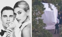"""Muốn là người đầu tiên nhìn thấy Hailey diện váy cưới, đây là cách """"bá đạo"""" Justin Bieber thực hiện để bảo vệ vợ khỏi paparazzi chụp lén"""