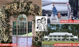 Mới tính 'sương sương', đám cưới của Justin Bieber và Hailey đã ngốn 30 tỷ đồng cho tất cả các chi phí