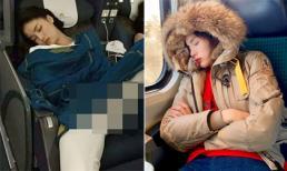 Cũng bị chụp khi ngủ, Hoa hậu Kỳ Duyên không còn 'kém duyên' như trước