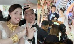 Vài ngày sau đám cưới, giảng viên hot girl Âu Hà My khoe vàng đeo trĩu cổ khiến dân tình 'phát choáng'