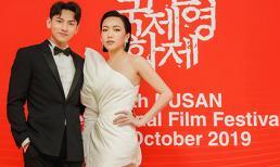 Isaac điển trai sánh đôi bên Diệu Nhi dự Liên hoan phim Busan Hàn Quốc