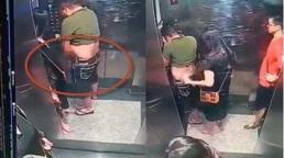 Clip người phụ nữ che chắn cho gã đàn ông tè bậy trong thang máy: Nam chính đã đến xin lỗi