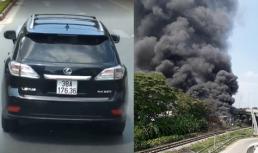 Tài xế Lexus chặn đầu xe cứu hỏa ở Nghệ An bị tước bằng lái 2 tháng