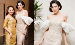 Tóc ngắn, dáng xinh cùng vai trần trễ nải, Á hậu Tú Anh 'đọ sắc' cùng đàn chị Bảo Thanh tại sự kiện