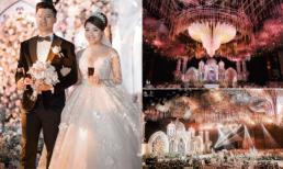 Ba váy cưới đính kim cương giá 1 tỉ đồng cùng không gian siêu hoành tráng trong đám cưới giảng viên hot girl Âu Hà My