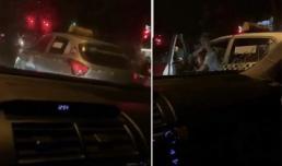 Tài xế taxi thách thức gọi công an, dọa đốt ô tô Camry vì không được nhường đường